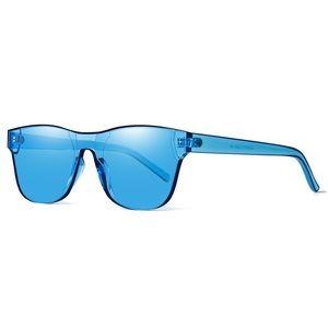 Rimless Wayfarer Sunglasses Retro Sky Blue Classic